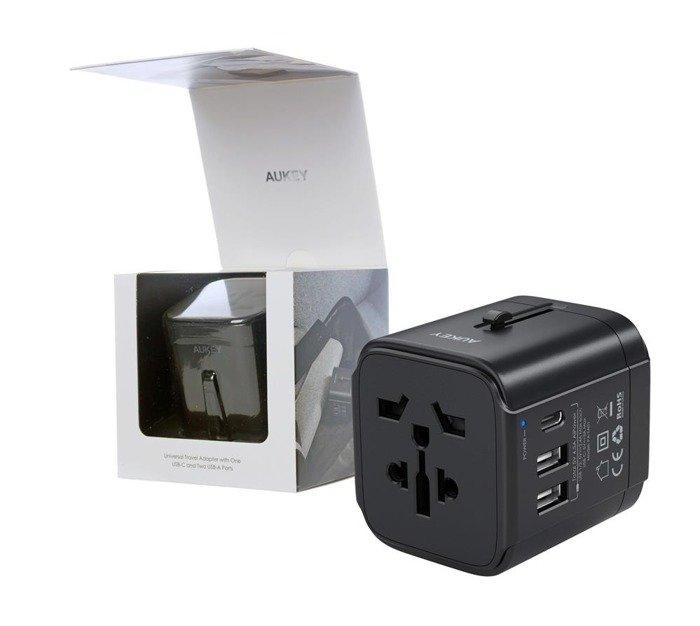 AUKEY PA-TA01 podróżny adapter sieciowy 3xUSB 7.8A