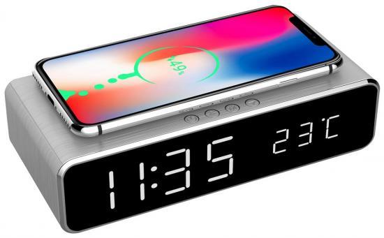 BUDZIK Z ŁADOWARKĄ INDUKCYJNĄ do iPhone'a X XS XR