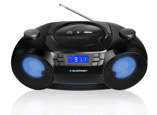 Boombox radio na baterie MP3 USB SD Blaupunkt LED