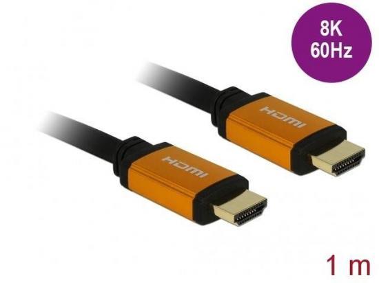 Delock Kabel HDMI M/M V2.1 1m 8K 60HZ Czarny