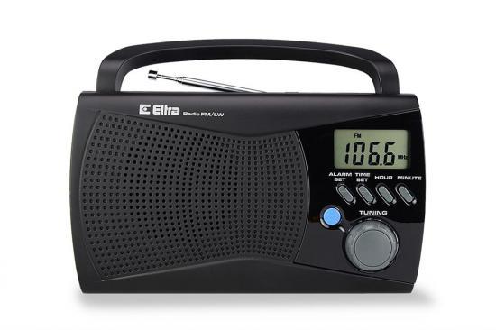 ELTRA Przenośne radio FM / LW / LCD KINGA 2 czarne