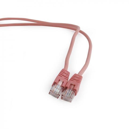 Gembird patchcord RJ45, osłonka zalewana, kat. 5e, UTP, 3m, różowy