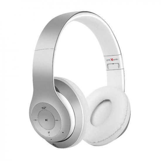 Gembird słuchawki ''Milano'' Bluetooth, stereo, mikrofon, srebrno-białe