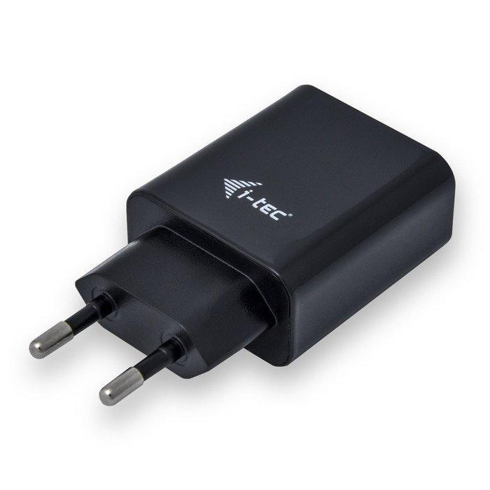 Ładowarka sieciowa i-tec 2x USB DC 5V 2.4A Czarna