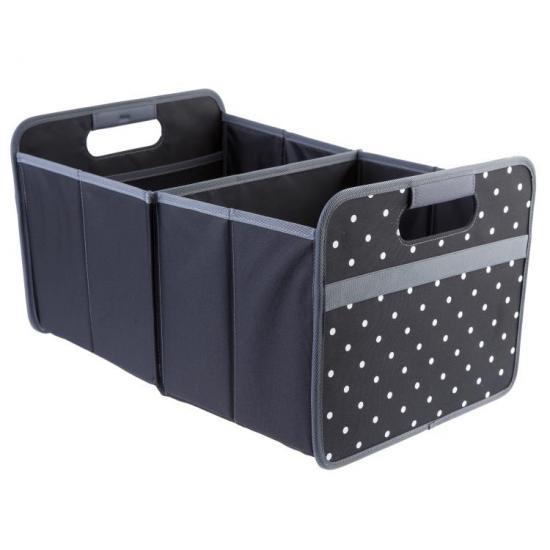 Meori wielofunkcyjny rozkładany Box, Klasyczny, Duży, Czarny w kropki