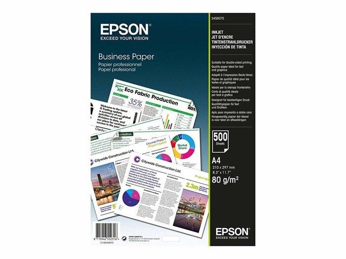 Papier ksero biały Epson Business 80g A4 500 ark.