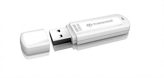 Transcend memory USB 128GB Jetflash 730 USB 3.0, white