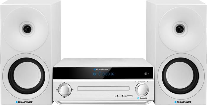 Wieża Blaupunkt Bluetooth FM CD MP3 USB AUX Biała